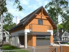 Дом с подвалом, мансардой, террасой и балконами